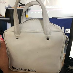 White square Balenciaga Bag